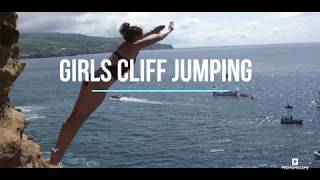 HOTTEST GIRLS CLIFF JUMPING