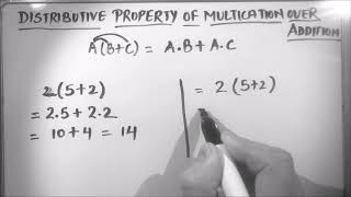 WHAT IS DISTRIBUTIVE PROPERTY OF MULTIPLICATION OVER ADDITION / DISTRIBUTIVE PROPERTY