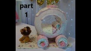 Princess Carriage Diaper Cake Series PART 1