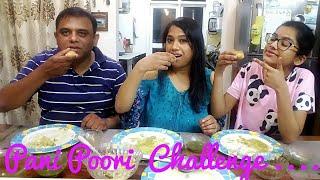 3 Minute Pani Puri Challenge || Family Golgappa Eating Challenge || Indian Mom Studio