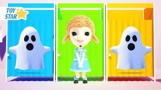 Dolly and Friends 3D | Kids Play Hide and Seek w/ Color Cabins & Ghost #201