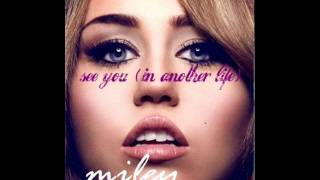 Miley Cyrus - See You (In Another Life) (Audio)