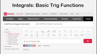 Integrals: Basic Trig