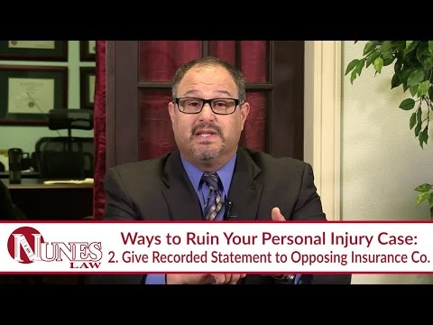 Here Are 5 Ways to Ruin Your Personal Injury Case