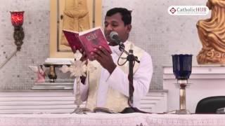 """""""Five Signs Of Evil Spirit"""" By Fr.Varghese VC @ Divine Mercy Church, Annanagar, Chennai  25-03-17"""