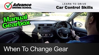 When To Change Gear  |  Learn to drive: Car control skills