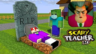 Monster School : RIP SCARY TEACHER 3D - Minecraft Animation