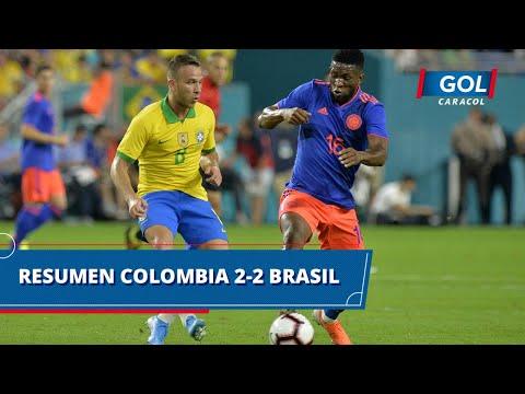 Colombia vs Brasil (2 - 2): goles y resumen del partido