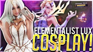 POKI COSPLAYS ELEMENTALIST LUX | DANCING & ONE-SHOTTING!