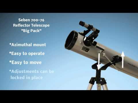 Seben 700-76 Reflector Telescope New Big Pack