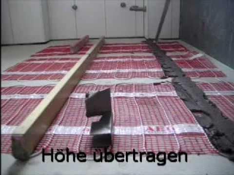 Fliesen auf elektr  Fußbodenheizung