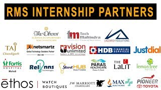 RMS Internship Partners| RMS Placements | Summer Internship 2019