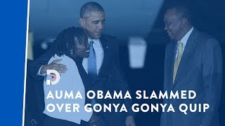 Auma Obama slammed over 'gonya gonya' (handout) remarks
