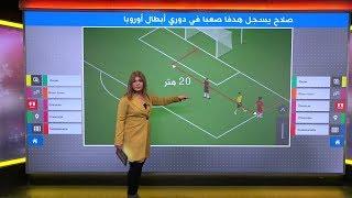 """هدف """"مستحيل"""" لمحمد صلاح في دوري أبطال أوروبا"""