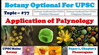 Applications of Palynology: Botany optional