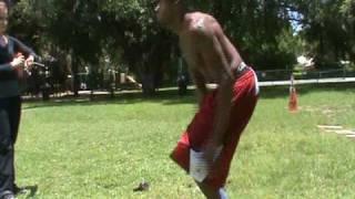 Dre Baldwin: Stamina & Vertical Jump Drill | High jump Skips| Air Alert 3 NBA Fit Chart