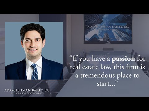 """""""If you have a passion for real estate law, this firm is a tremendous place to start…"""" testimonial video thumbnail"""