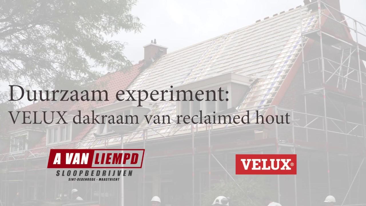 Hout uit 100 jaar oude huizen verwerkt tot nieuwe dakramen