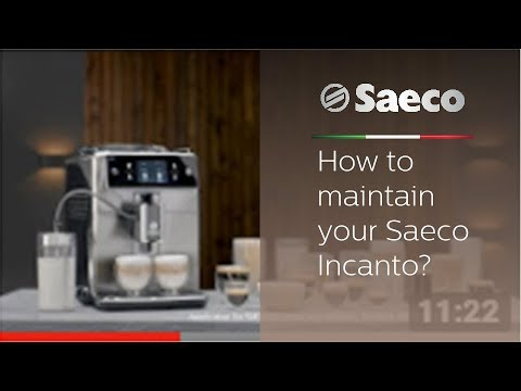 How to maintain your Saeco Incanto?
