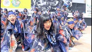 4K稲場愛香「ペプシJコーラ怪物舞踏団」第27回YOSAKOIソーラン祭り札幌駅南口180610