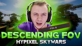 THE DESCENDING FOV CHALLENGE + NINJA VANISH! ( Hypixel Skywars )