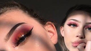 SUNSET gold glitter eyeshadow tutorial