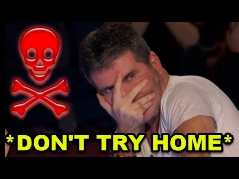 Top 10 *MOST DANGEROUS & DON'T TRY HOME* Auditions... I Can't Watch This..!