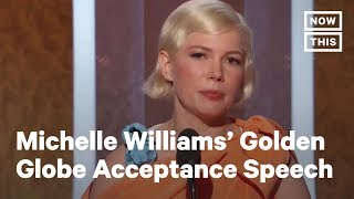 Golden Globes 2020: Michelle Williams Stands Up for Reproductive Freedom   NowThis