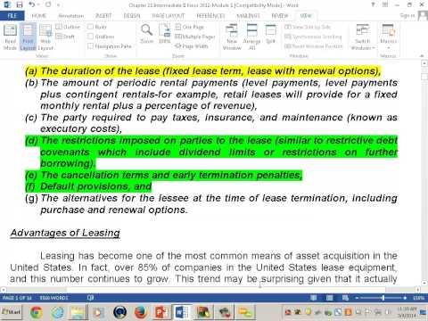 Intermediate Accounting II: Accounting For Leases -L1- Professor ...