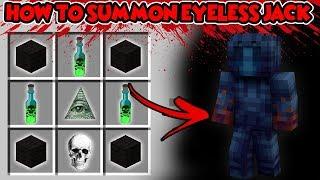 HOW TO SUMMON EYELESS JACK FROM CREEPY PASTA!! Baby Duck Minecraft adventures