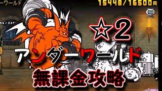 アンダーワールド☆2無課金攻略にゃんこ大戦争