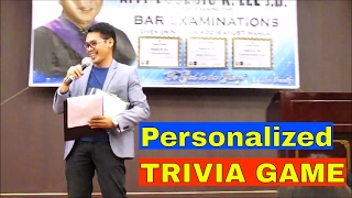 PERSONALIZED TRIVIA GAME @ Atty. Eusebio Lee Thanksgiving Party | Bar Passer @ 56 years old