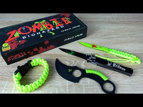 Günstiges Zombie Messer Set (Unboxing und Review)