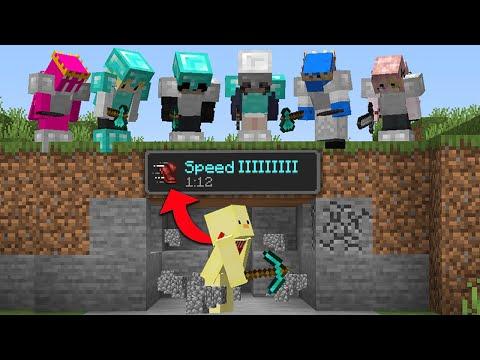 Minecraft Manhunt But Every Block I Break Increases My Speed