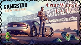 Gangstar New Orleans - Wanted Level 4 STAR Gameplay
