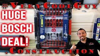 Bosch (SDMS24) Custom Case Impact Tough 24 Piece Bit Set DEAL!