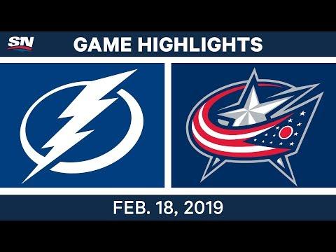 NHL Highlights | Lightning vs. Blue Jackets - Feb 18, 2019