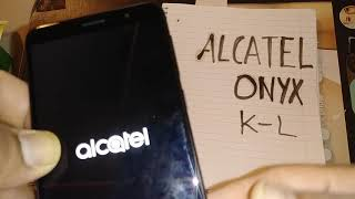 Hard Reset Alcatel Onyx Cricket Wireless / how to unlock screen other than menu