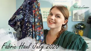 Fabric Haul July 2020, Sewing Plans And Catch Up