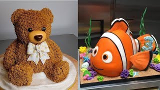 MOST AMAZING Cakes Art Decorating Tehniques - Teddy Bear, Nemo And More Cakes Decorating