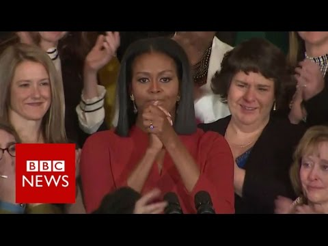 Michelle Obama's final First Lady speech - BBC News