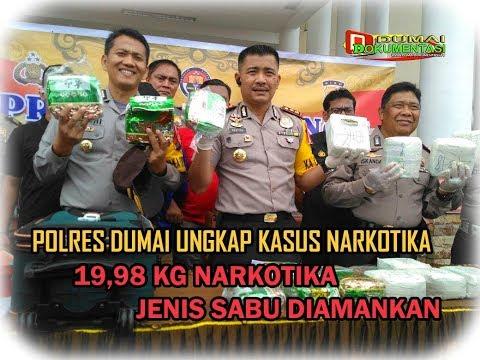 INFO TERKINI: Polres Dumai Ungkap Kasus Narkotika, 19,98 KG Narkotika Jenis SABU Diamankan