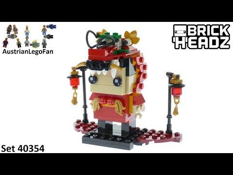 Vidéo LEGO BrickHeadz 40354 : Danseur Dragon