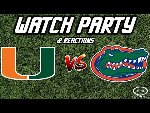 Miami Hurricanes vs Florida Gators | Watch Party & Reaction | NOT THE GAME!