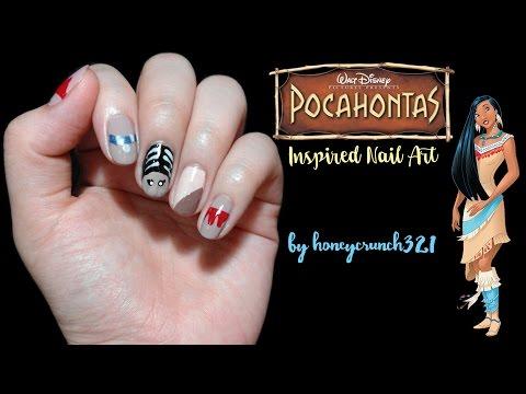 pocahontas inspired nail