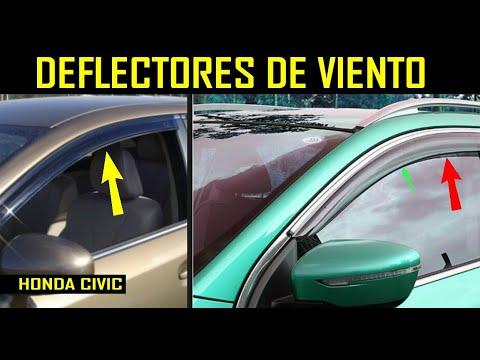 Instalacion de deflectores o visores de aire en el auto