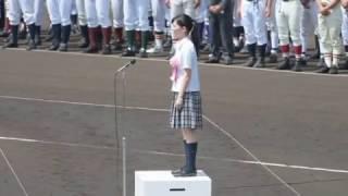 第98回全国高校野球選手権栃木大会大会歌「栄冠は君に輝く」独唱