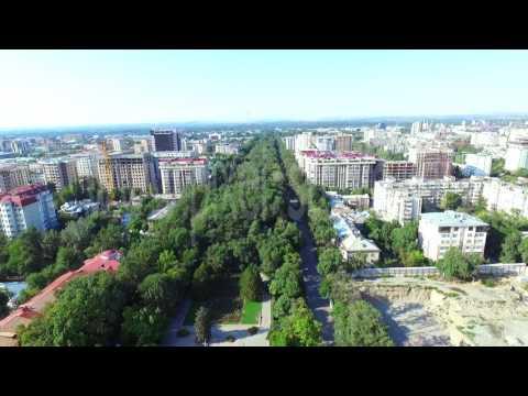 Бишкек ночью и днем с высоты птичьего по