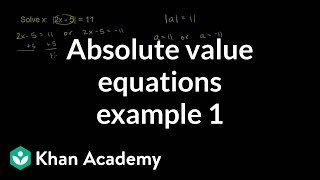 Absolute Value Equations Example 1