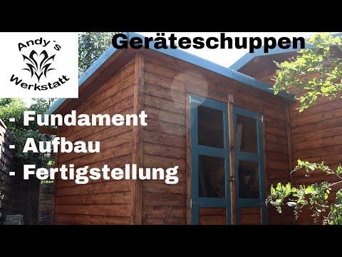 Geräteschuppen Merseburg 5 - Fundamente, Aufbau und Fertigstellung